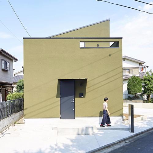 回遊する土間のある家の画像